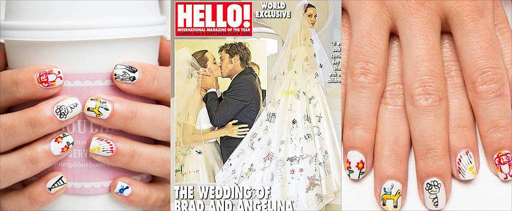 Stop It! Angelina Jolie Wedding Veil Nail Art Is Happening