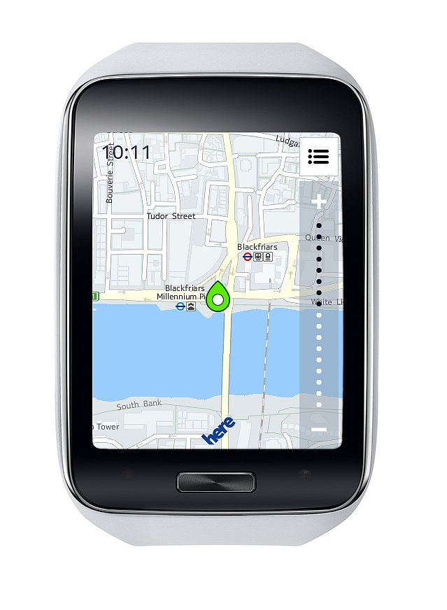 Find directions with mobile maps. Source: Samsung