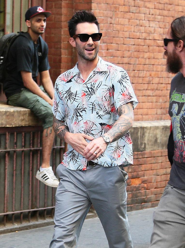 Adam Levine had a fun stroll in NYC on Friday.