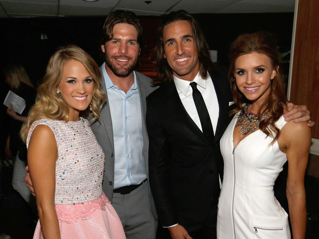 Carrie underwood and her husband mike fisher joined jake owen and