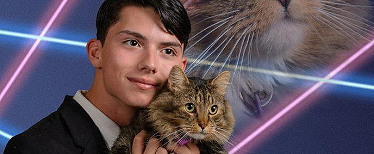 So, This Teen Wants to Use a Laser Cat Yearbook Photo