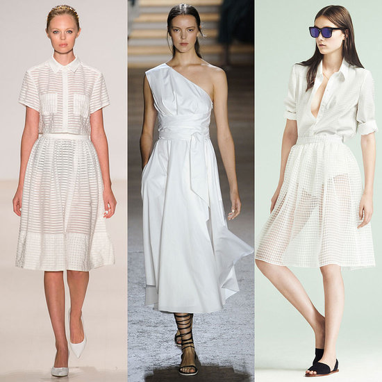 White Dresses On Spring 2015 New York Fashion Week Runway