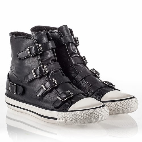 $148.00 ASH VIRGIN WOMENS SNEAKER BLACK LEATHER