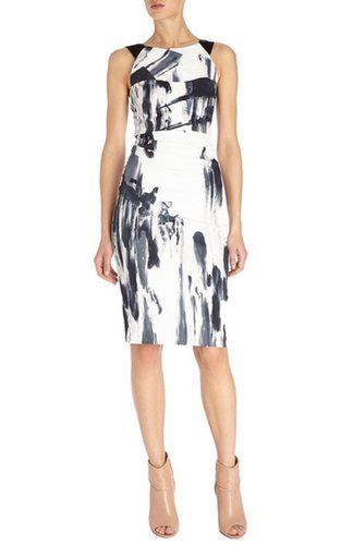 £70.00 KAREN MILLEN PAINT PRINTED SHIFT DRESS