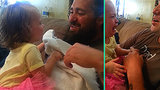 Watch This Baby's Hilarious Reaction to Seeing Her Dad Without a Beard for the First Time