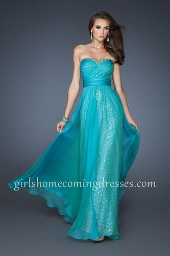 La Femme Style 18869 Peacock Long Strapless Sequin Homecoming Dresse [La Femme 18869] - $165.00 : Girl's Dresses | 2014 Dresses