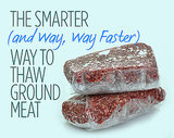 The Smarter (and Way, Way Faster) Way to Thaw Ground Meat