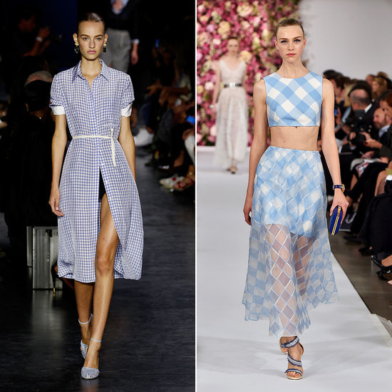 Gingham Prints on the Spring 2015 Fashion Week Runways