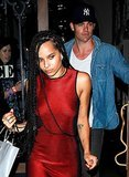 Zoe Kravitz and Chris Pine at the Coldplay concert