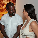 Kim Kardashian and Kanye West at Art Opening