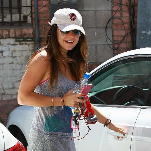 Lucy Hale and Jennifer Lopez Hit the Gym