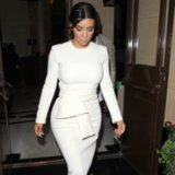 Kim Kardashian Long-Sleeve Dress Street Style