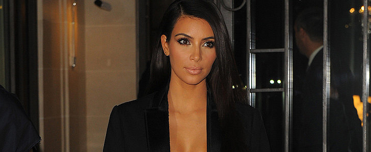 Kim Kardashian May or May Not Be Wearing a Top