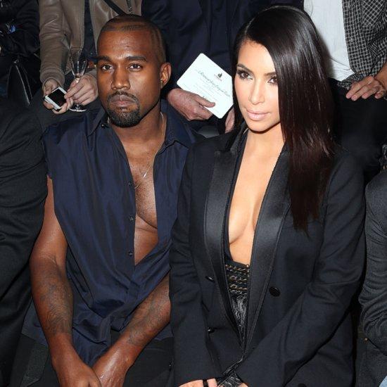 Kanye West Showing Man Cleavage at Paris Fashion Week