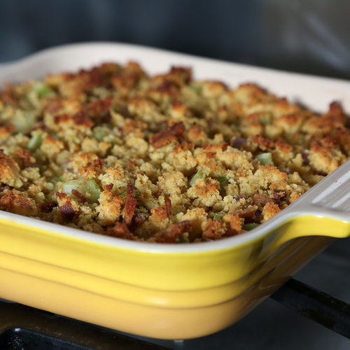 so no more excuses let there be bacony cornbread dressing