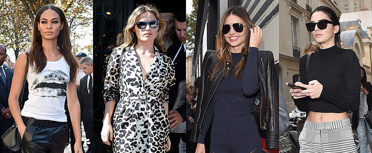 The Supermodels Keep It Sleek on the Streets at PFW