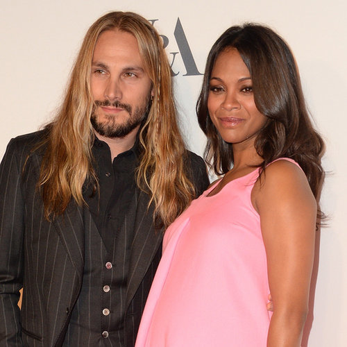 Zoe Saldana and Marco Perego at Costume Opening Party