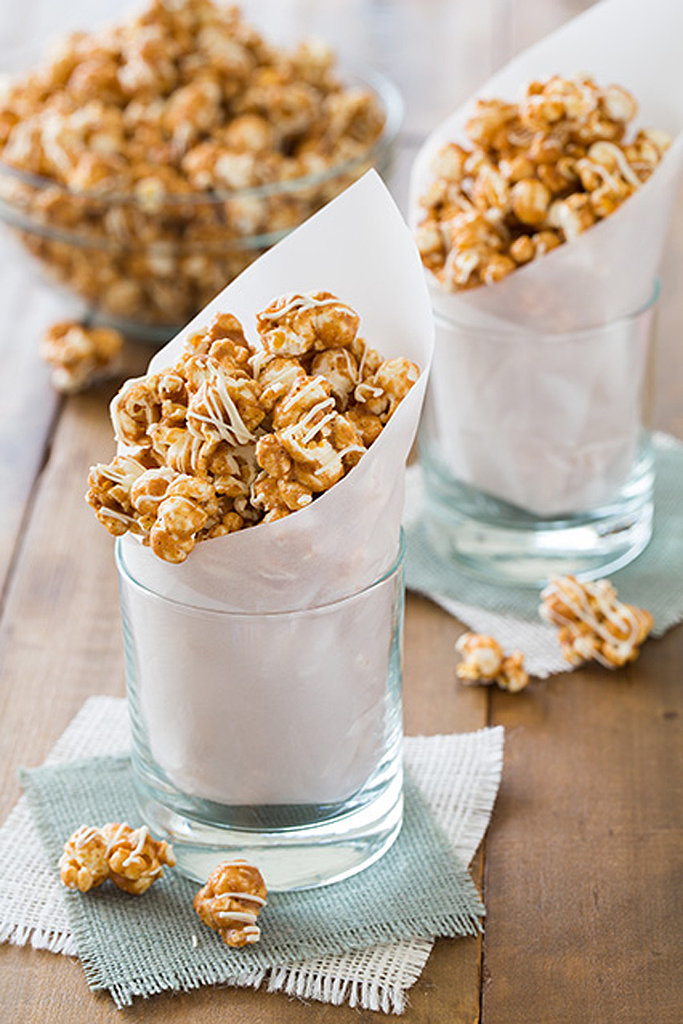 White Chocolate Caramel Popcorn With Pumpkin Pie Spices