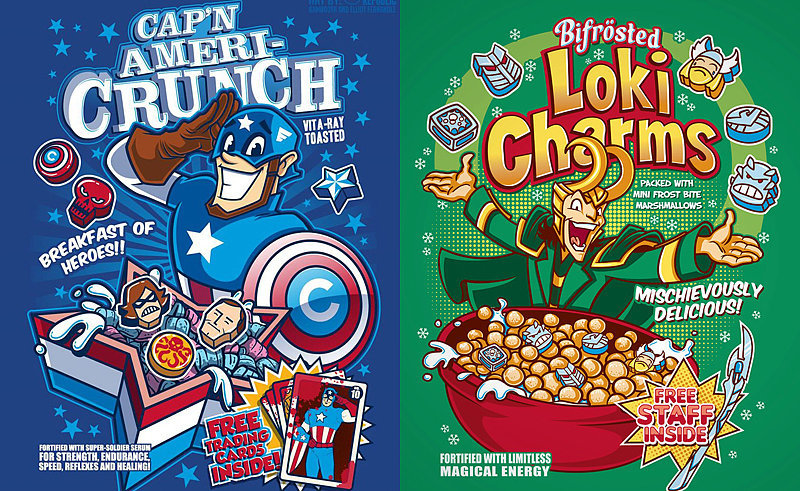Presenting Your Favorite Superheroes as Cereal Characters