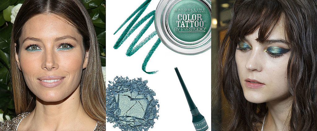Try This Spring Fashion Week Trend Now: Teal Eye Makeup