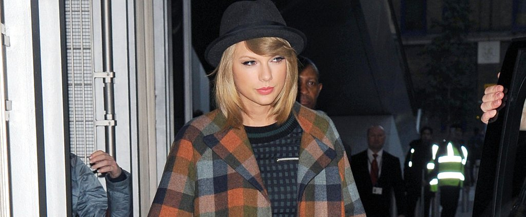 Taylor Swift Gives Us Double the Reason to Buy a Plaid Coat