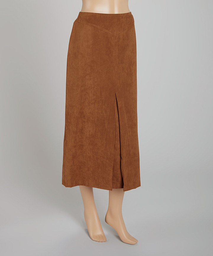 Rafael Tobacco Faux Suede Skirt