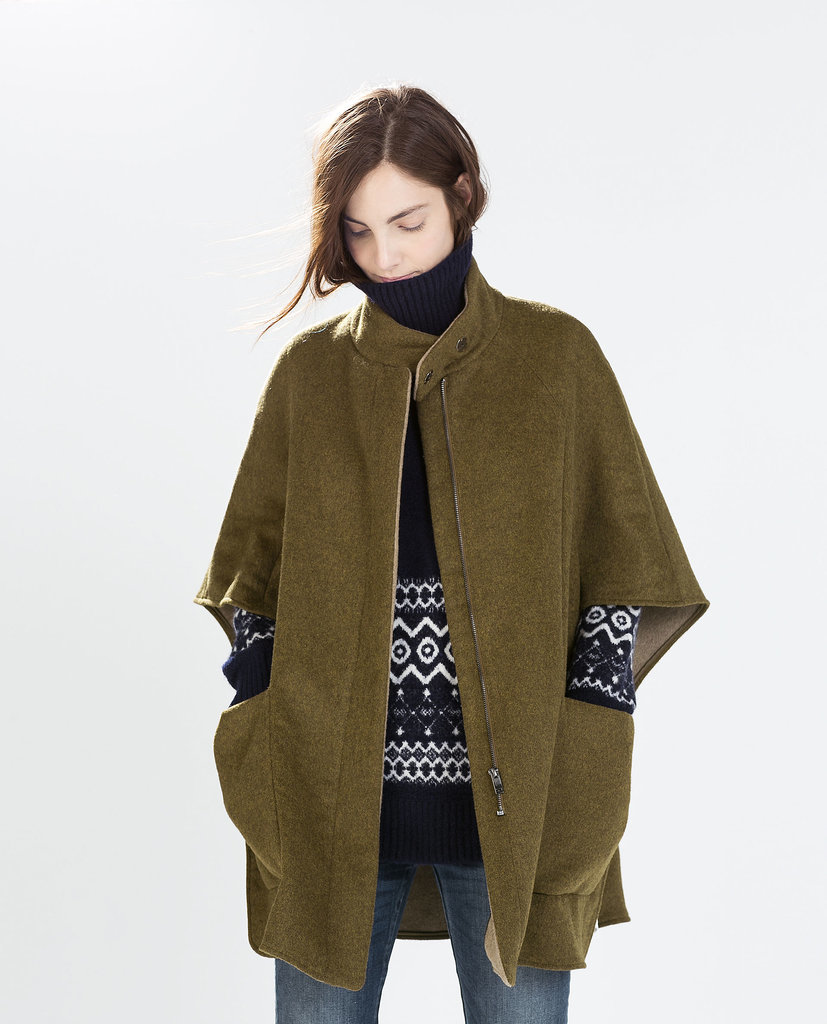 Zara Wool Cape ($169) | The Ultimate Guide To This Seasonu0026#39;s Biggest Coat Trends | POPSUGAR Fashion