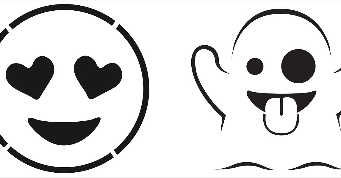 Free coloring pages of emoji for Emoji pumpkin carving stencils