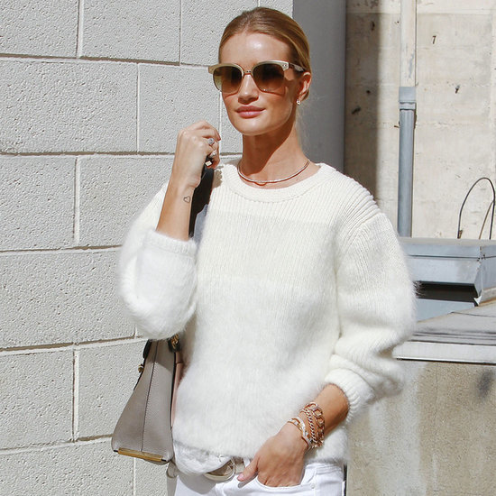 "Rosie Huntington-Whiteley Has the Perfect Answer to ""Can You Wear White in Winter?"""