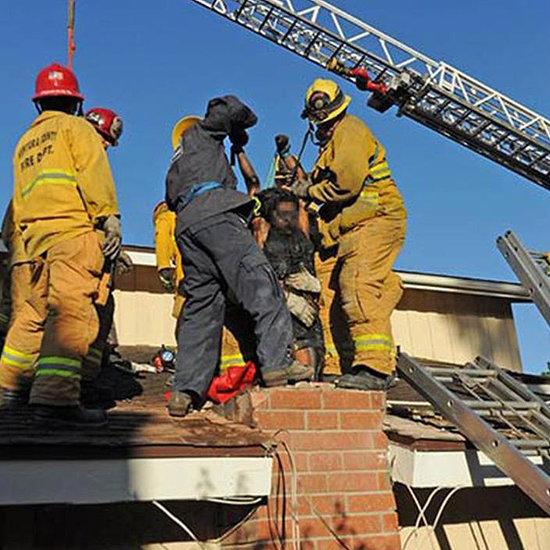 Woman Rescued From the Chimney of a Guy She Met Online