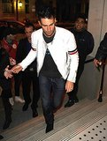 Adam Levine in Paris and the word douchebag