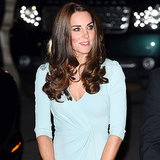 Kate Middleton Pregnant In Blue Dress Natural History Museum