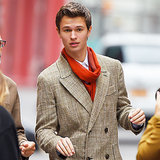 Ansel Elgort Doing a Photo Shoot in NYC