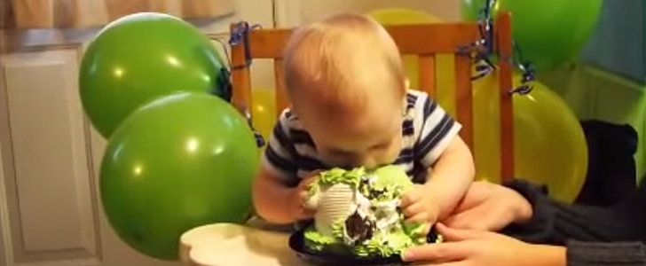 This Baby Is All About That Cake