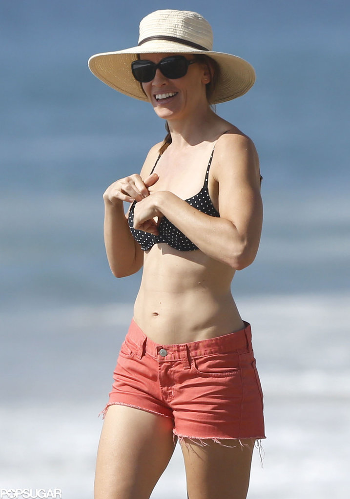 Hilary Swank In A Bikini With Laurent Fleury Pictures