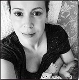 Alyssa Milano Shares a Personal Breastfeeding Snap
