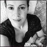 Alyssa Milano Shares a Personal Breastfeeding Snap