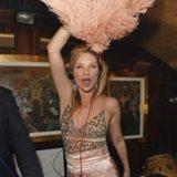 Kate Moss Wears a Polka-Dot Suit at Annabel's Nightclub