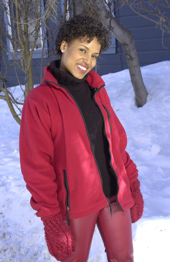 a short haired kerry posed in the snow at the sundance