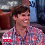Ashton Kutcher Adorably Can't