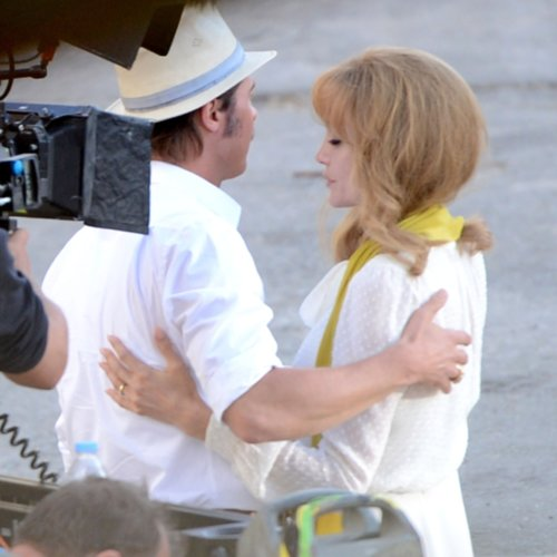 Angelina Jolie and Brad Pitt Filming By the Sea | Pictures