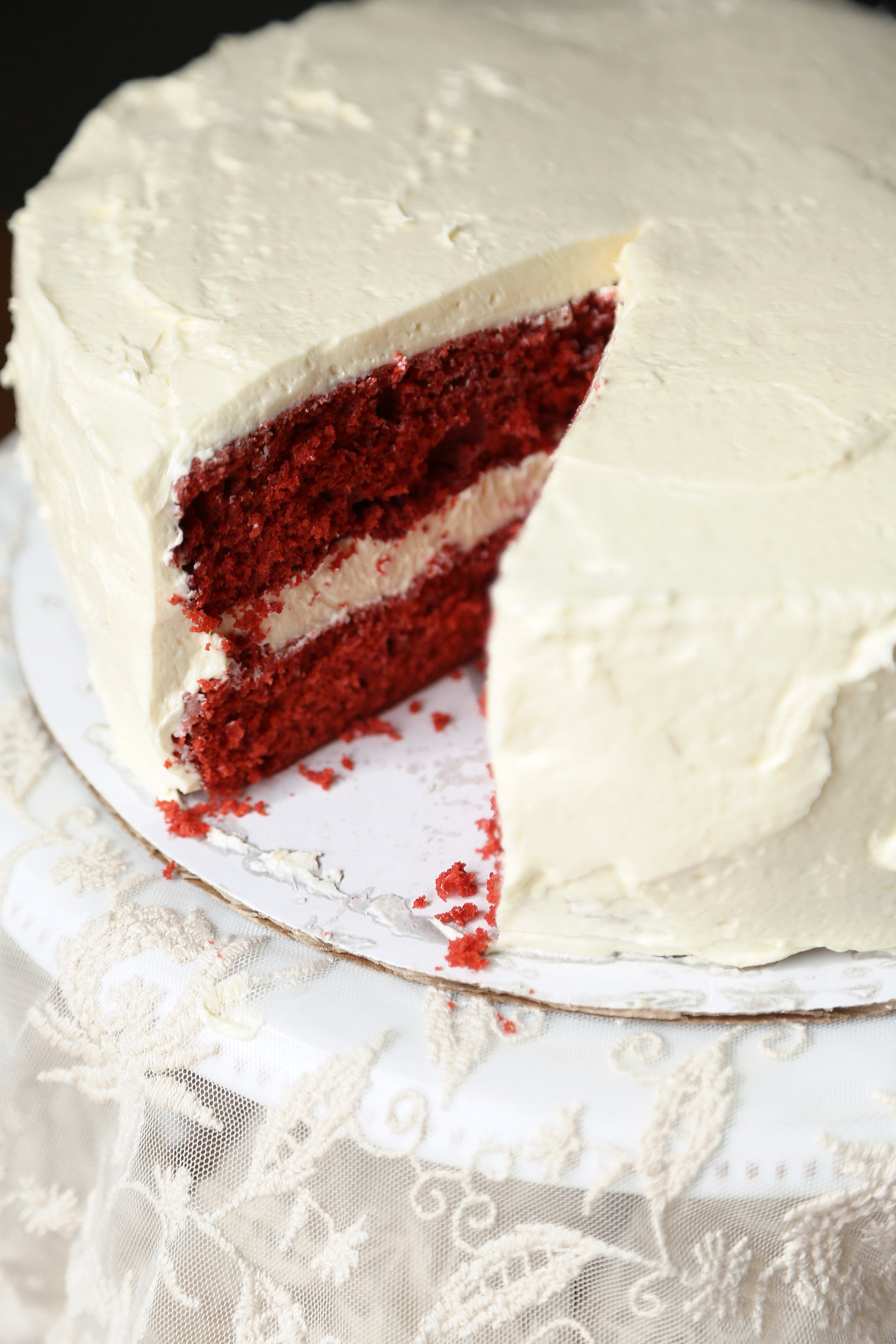 icing a red velvet cake is very red velvet cake a red velvet cake ...