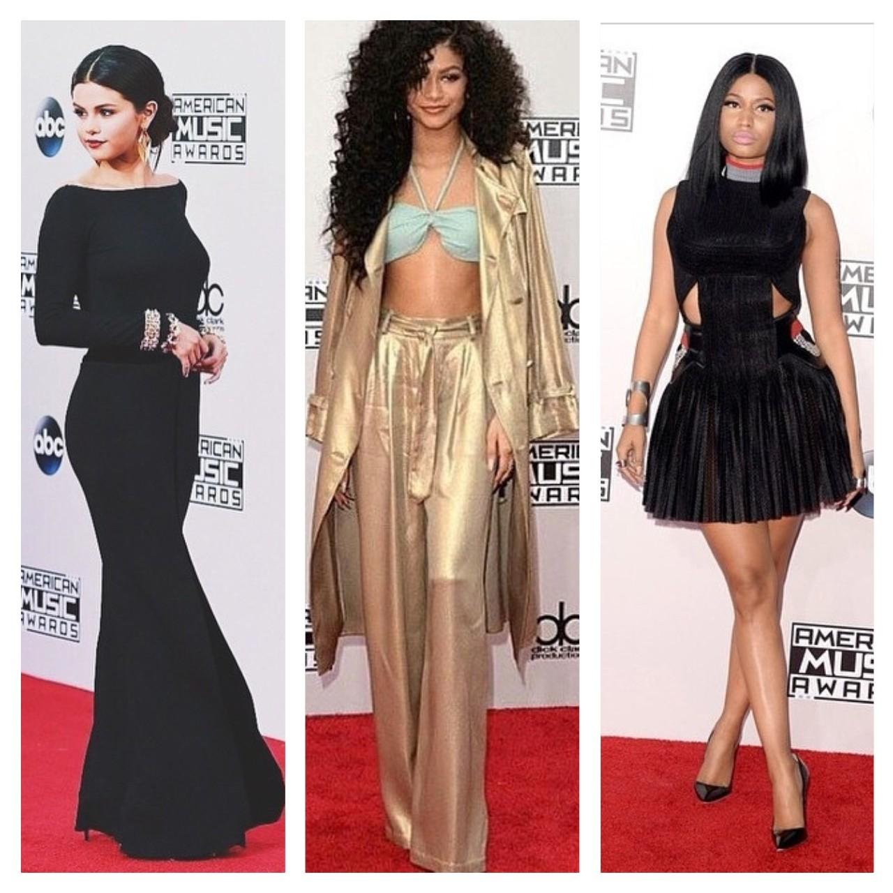 zendaya selena gomez nicki minaj American Music Awards 2014 red carpet