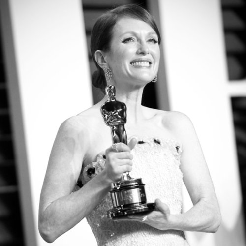 Black-and-White Pictures From the Oscars 2015