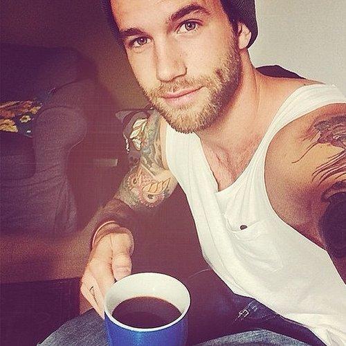 Hot Guys Drinking Coffee