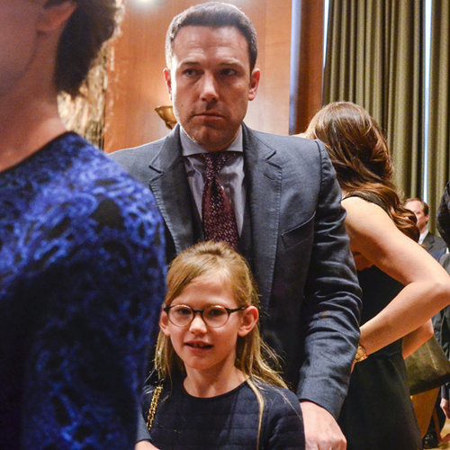 Ben and Violet Affleck in Washington DC March 2015