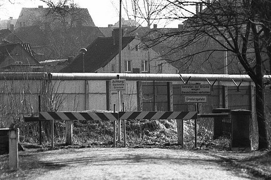 A road towards Hötensleben (part of East Germany' then Magdeburg region), 1983. For decades the street abruptly ended because of the division of Germany.