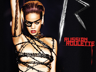 Rihanna's first new single ''Russian Roulette'' poster