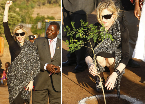 Madonna breaks Ground on Girls School in Malawi
