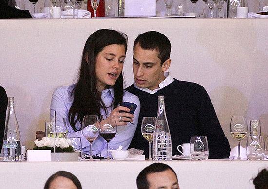 Charlotte Casiraghi and her boyfriend attend the Gucci Masters in Paris